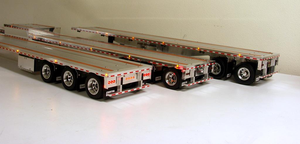 Tri Axle Flatbed : ′ drop deck tri axle custom aluminum flatbed trailers
