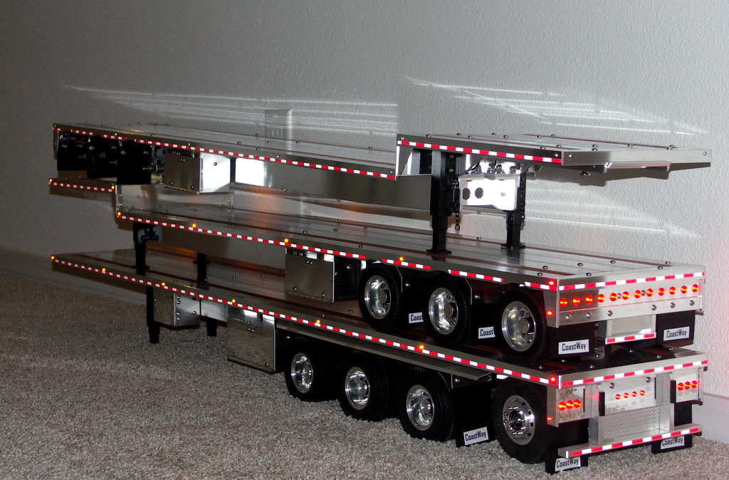 Custom Aluminum Flatbed Trailers for Tamiya Trucks